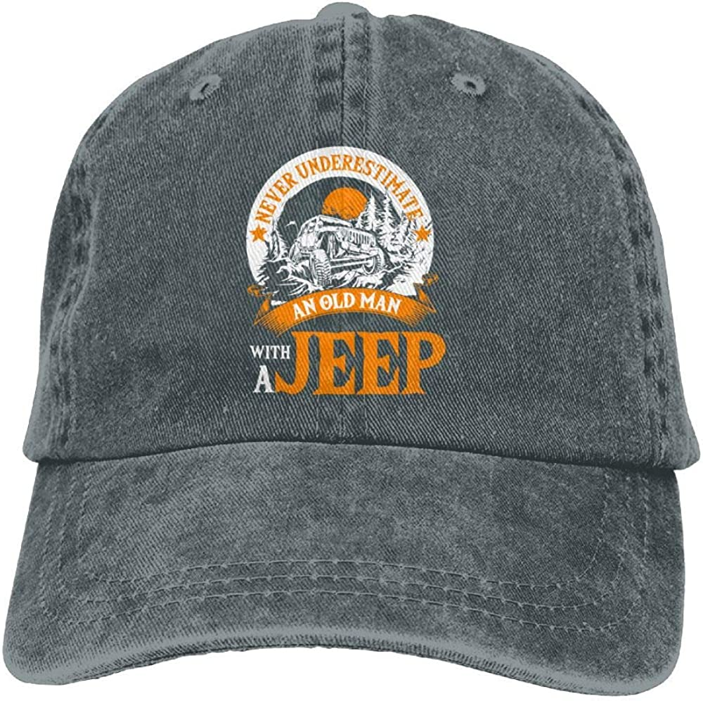 MERCHA Classic Adjustable Cowboy Cap Denim Hat Low Profile Gift For Men Women