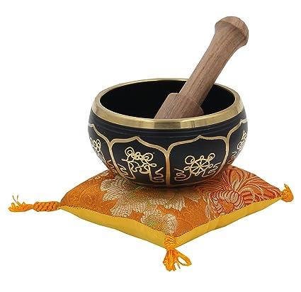 Amazon Gorgeous Meditation 8 Lucky Symbols Singing Bowl With