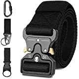 Tactical Belt, TERSLEY Men Military Style Adjustable Nylon Belt with Quick Release Metal Cobra Buckle Ideal for Equipment Belt, Daily Belt, Work Belt, Everyday Carry Belt