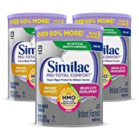 Similac Pro-Total Comfort Infant Formula OPTI-GRO, Non-GMO, Easy-to-Digest, Gentle...