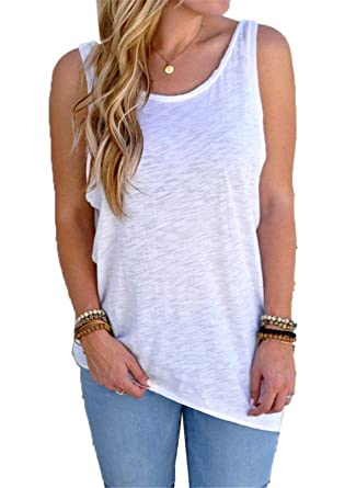 8e2a776e9d93 FJ-Direct Summer Women Sexy Sleeveless Backless Knotted Tank Top Blouse  Vest Tops at Amazon Women's Clothing store:
