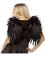 Angelic Feather Adult Wings - Black