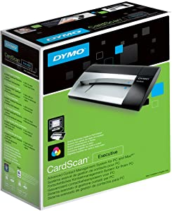 DYMO CardScan v9 Executive Business Card Scanner and Contact Management System for PC or Mac (1760686)