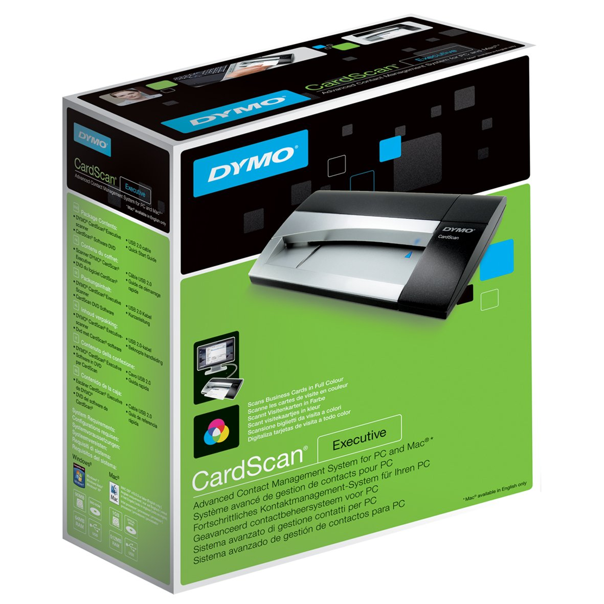 Amazon.com: DYMO CardScan v9 Executive Business Card Scanner and ...