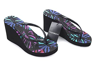9f329a72b992 Emporio Armani Woman FLIP Flop Sandal with Wedge Black FANTASY262526 5P336  19020 36 -