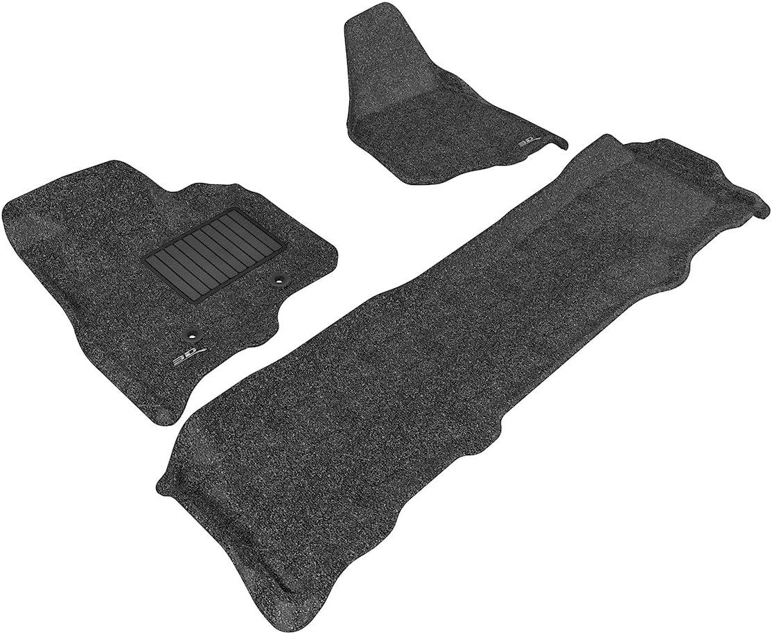 Classic Carpet Black 3D MAXpider Front Row Custom Fit Floor Mat for Select Ford Models