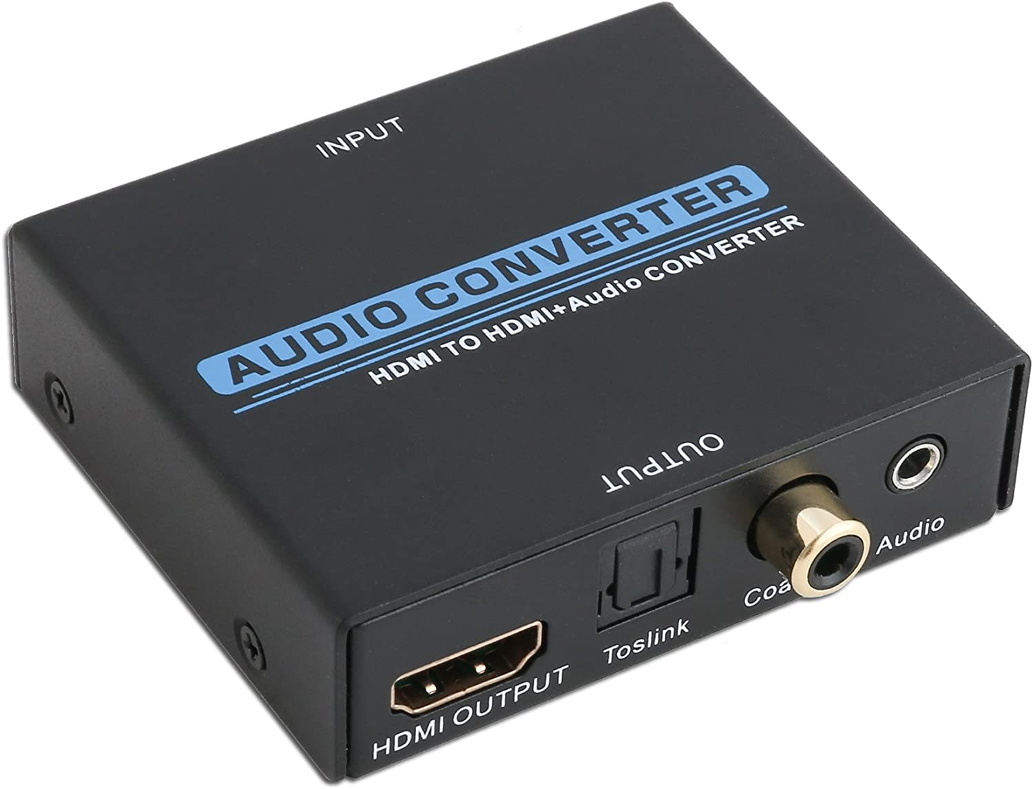 IO Crest Digital HDMI Audio Extractor Converter SPDIF + 3.5MM Output Supports HDCP 2.2, Dolby Digital/DTS Passthrough