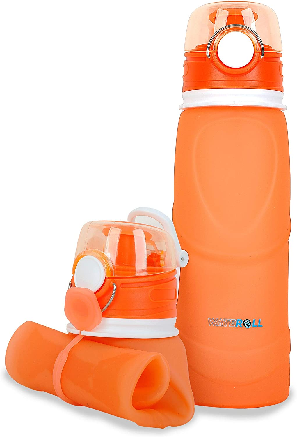 Foldable Water Bottle 26oz - Collapsible, Portable and Collapsable Travel Sports Waterbottles - Medical Grade, BPA Free, Leak Proof and Anti Spill Valve