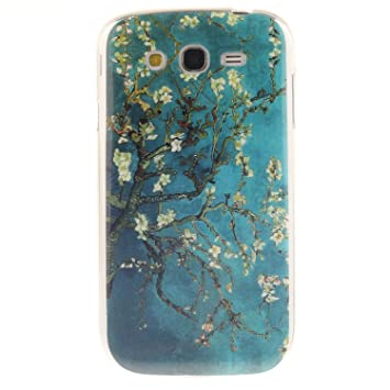Guran® Silicona Funda Carcasa para Samsung Galaxy Grand Neo Plus / Grand Neo Smartphone Case Bumper Shock TPU Cover-Árbol de flores