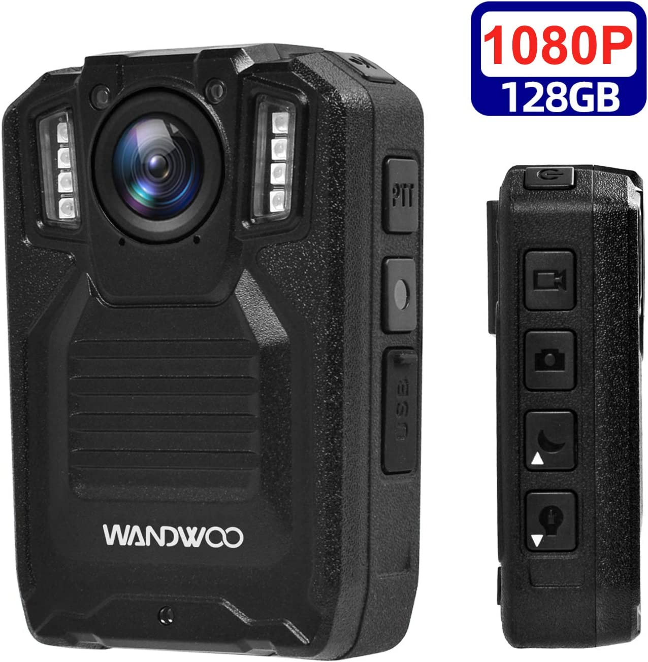 Body Camera for Law Enforcement, WANDWOO Police Camera with128GB Memory for Police Law Enforcement