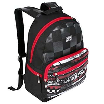 a76117aa68b5a No Fear MX Skate Backpack Black Red White Rucksack Sports Bag Gymbag Kitbag  H