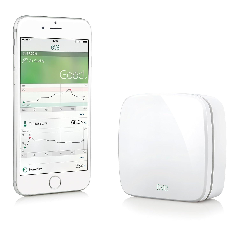 Elgato Eve Room Wireless (1st Generation) - Indoor Sensor with Apple HomeKit Technology, Bluetooth Low Energy
