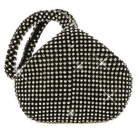 Flada Girl s y señoras bolso de embrague de noche de diamantes de imitación bolsa de