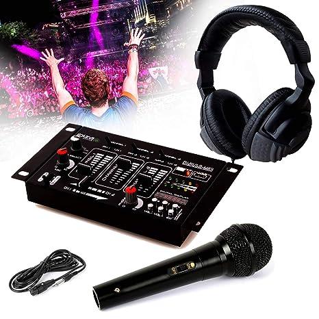 Auricular Dj Sono + mesa de mezclas dj21-usb-mkii Ibiza Sound + ...