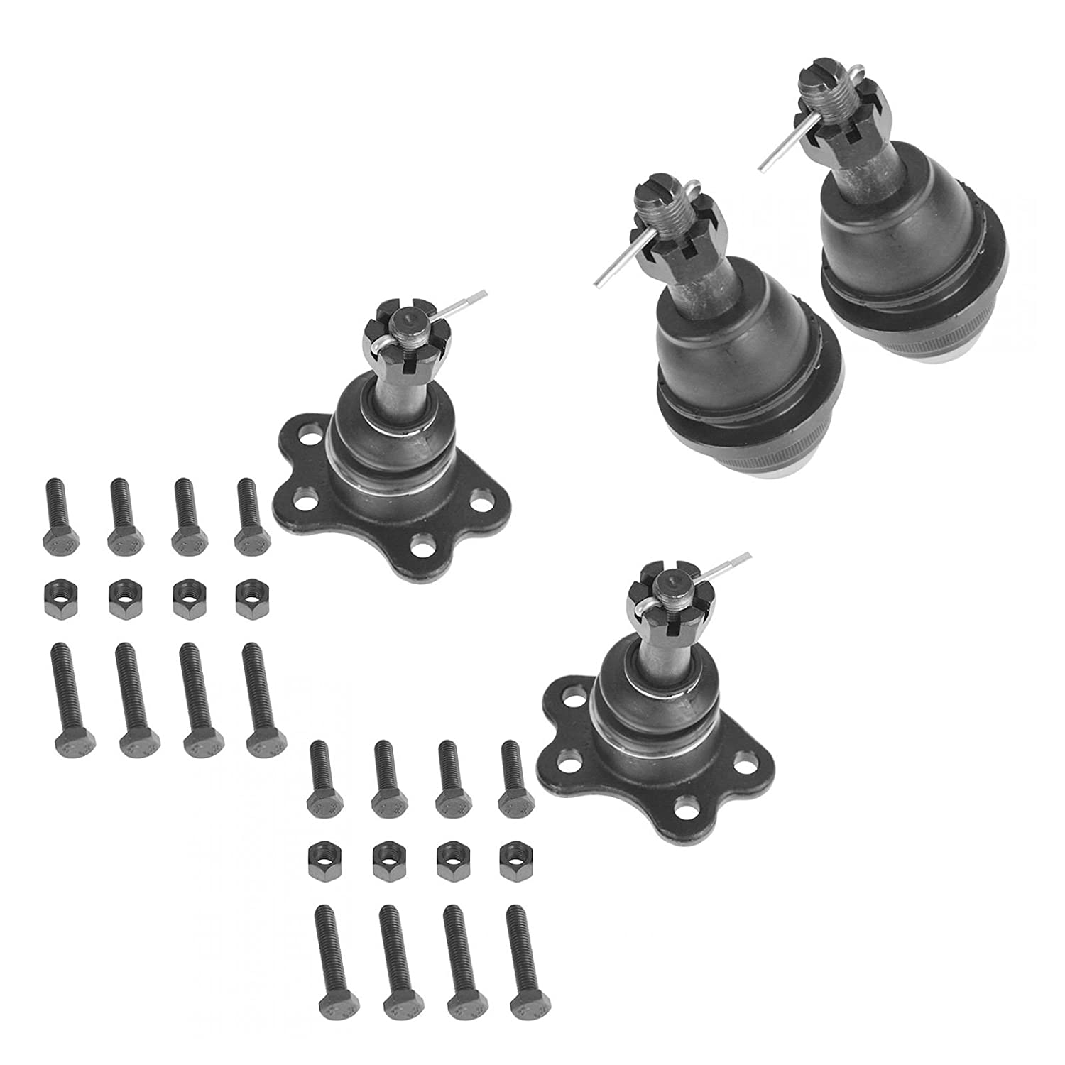 Ball Joint Upper Lower Kit Set of 4 for Chevy GMC Pickup Truck SUV AM Autoparts
