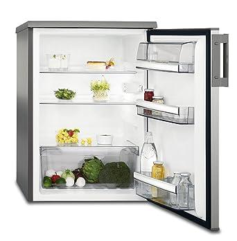 AEG RTB81521AX Freistehender Tisch-Kühlschrank / 850 mm / 150 L / Farbe:  Edelstahltürfronten, silberne Seitenwände