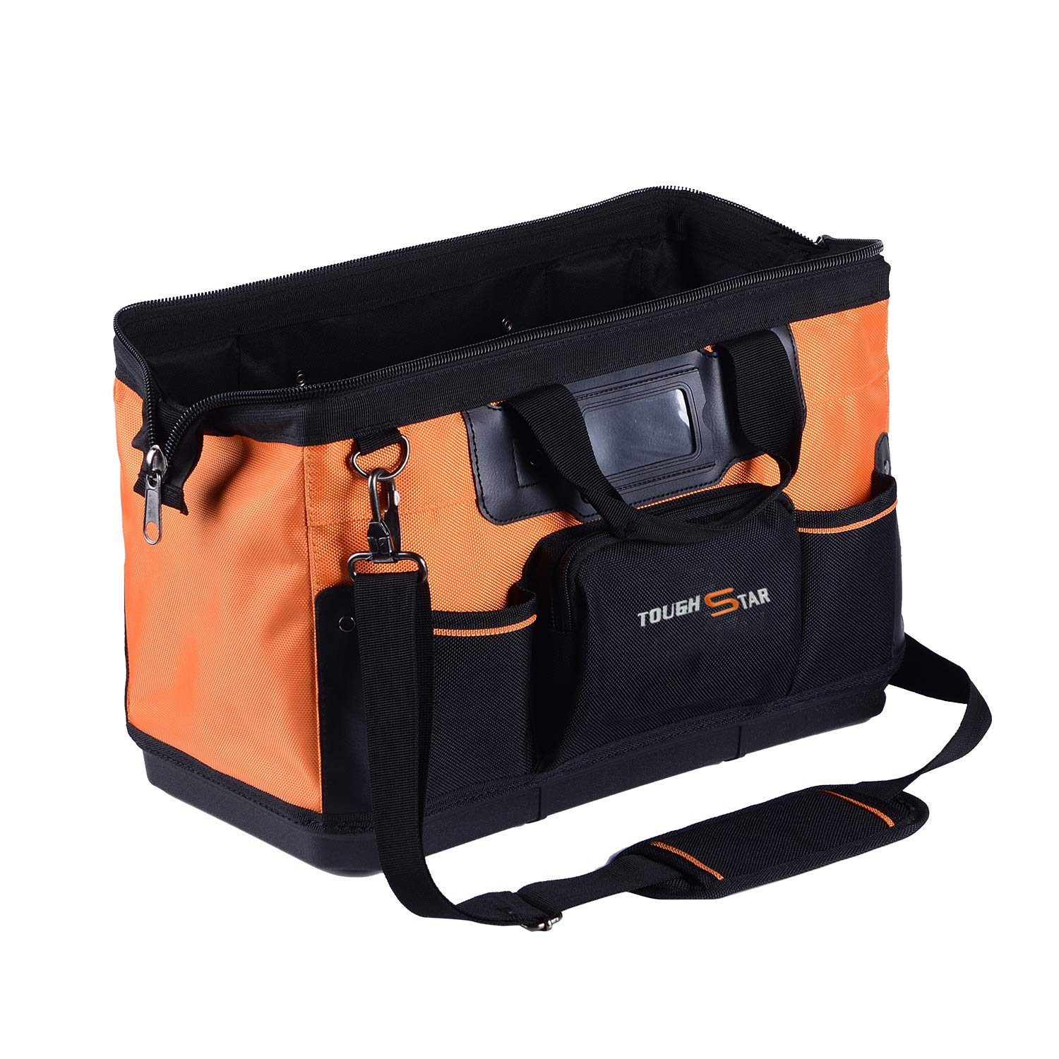 16 Inch 16 Pockets Wide Mouth Single-Shoulder Tool Bag Water Proof Ultra-Rigid Base Tool Storage and Organizer Bag by Sonyabecca (Image #6)