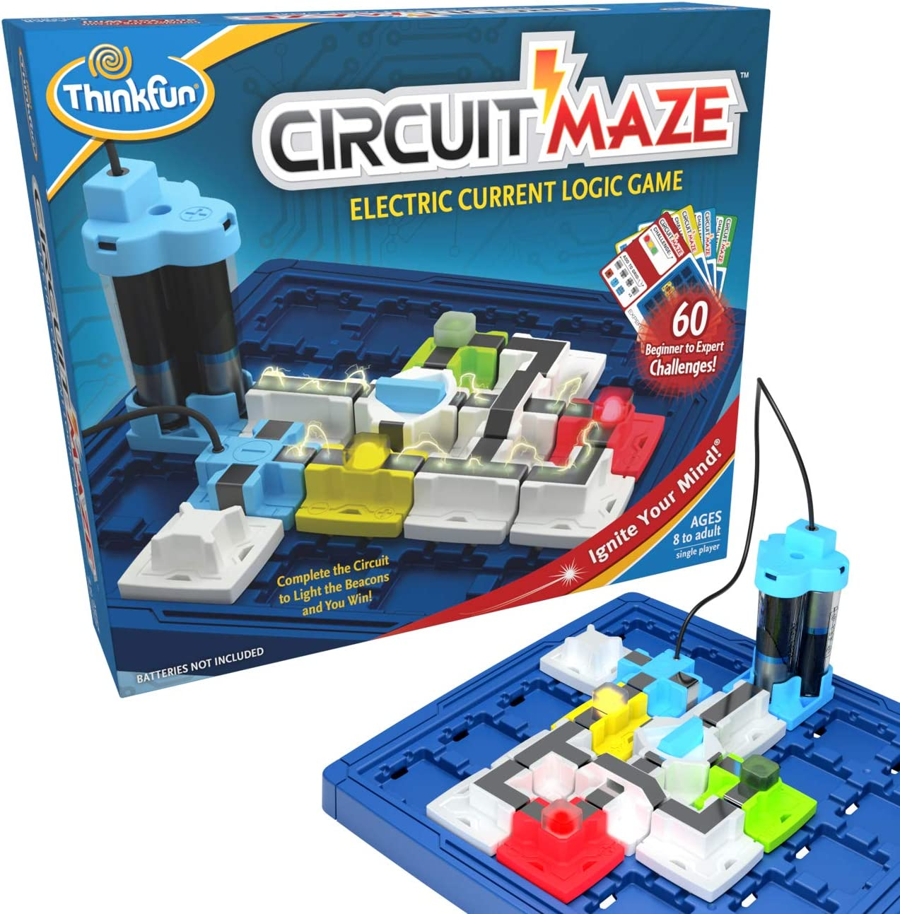 ThinkFun Circuit Maze Electric Current Brain Game and STEM Toy