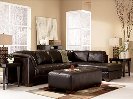 Amazon.com: Harrington - Chocolate Right Corner Chaise Sectional by ...