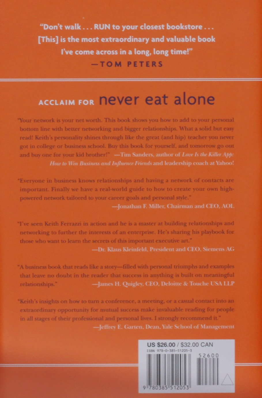 Never Eat Alone: And Other Secrets to Success, One Relationship at a ...