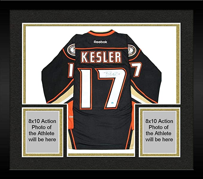 sports shoes c9196 9a0c2 Framed Ryan Kesler Anaheim Ducks Signed Reebok Premier ...