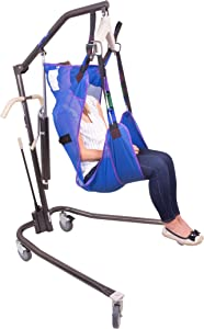 Probasics Personal Hydraulic Patient Body Lift (with Medium Full Body Mesh Sling w/Commode)