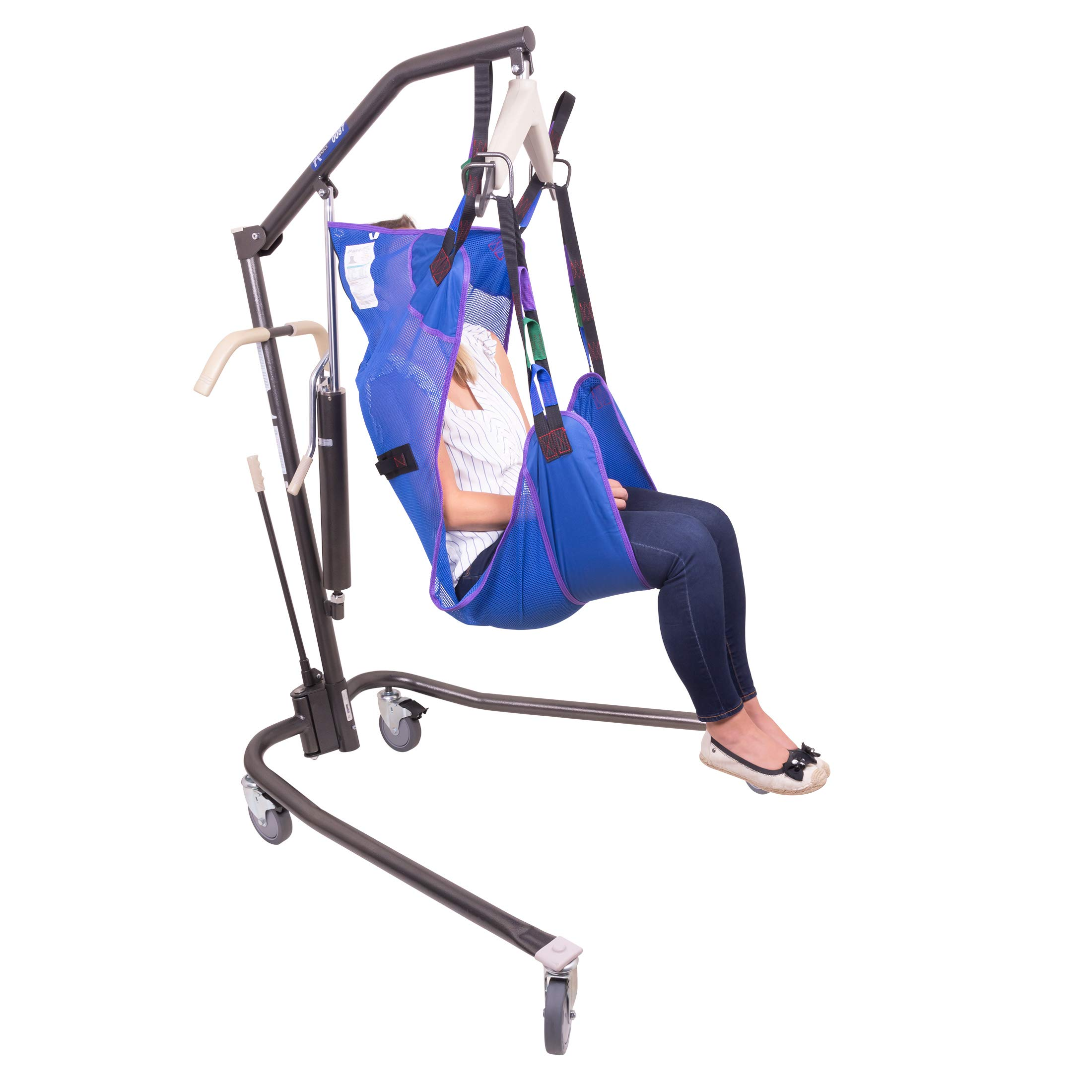 Probasics Personal Hydraulic Patient Body Lift (with Large Full Body Mesh Sling w/Commode) by ProBasics