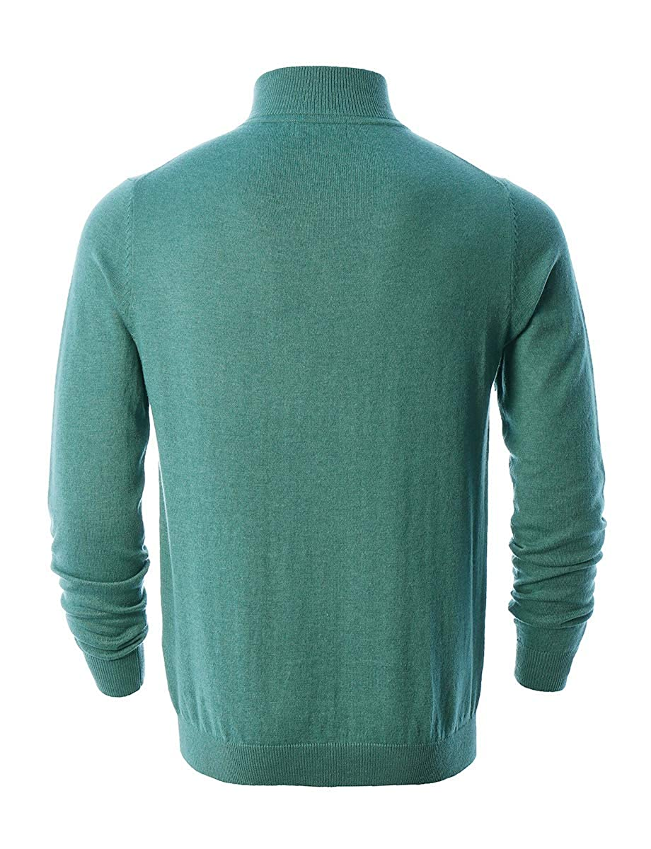 Mens Mock Neck Quarter Zip Pullover Cotton Stitch Knit Long Sleeve Casual Sweater AFAIK As Far As I Know