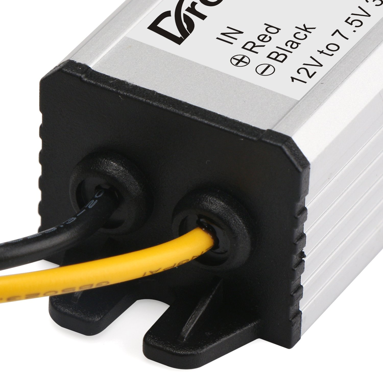 DROK Buck Voltage Reducer Converter 12V to 7.5V 3A/22W Step-down Power Module DC/DC Voltage Transformer Regulator Power Supply Board for LED Display Radio by DROK (Image #6)