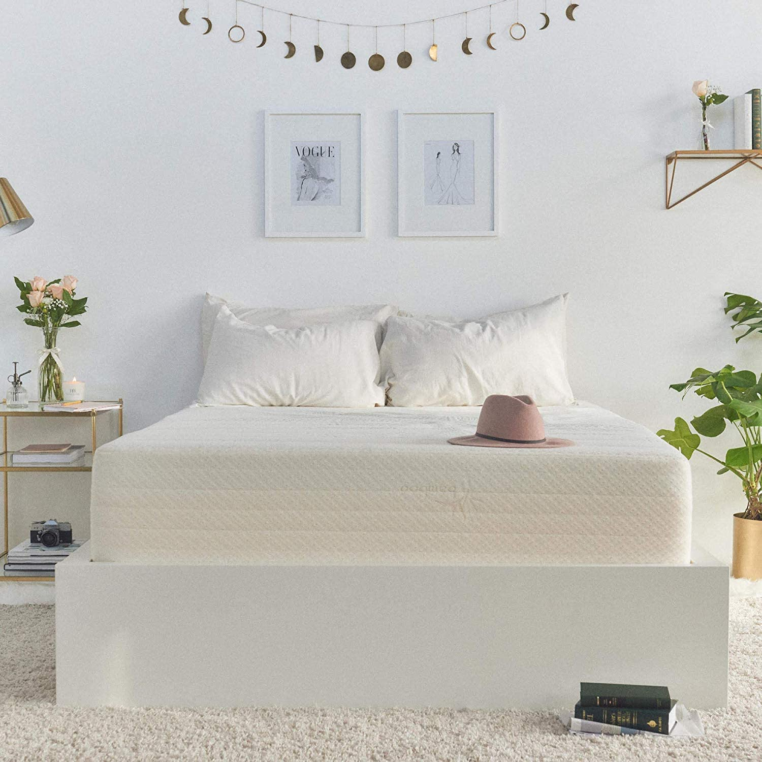 Brentwood Home Cypress Cooling Gel Memory Foam, Non-Toxic, Made in California Mattress, Full, Beige