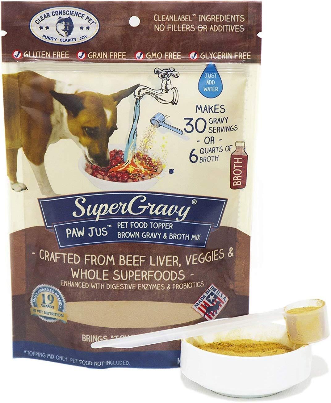 SuperGravy Bundle - Natural Dog Food Gravy Topper - Hydration Broth Food Mix - Human Grade – Kibble Seasoning for Picky Eaters – Gluten Free & Grain Free 4