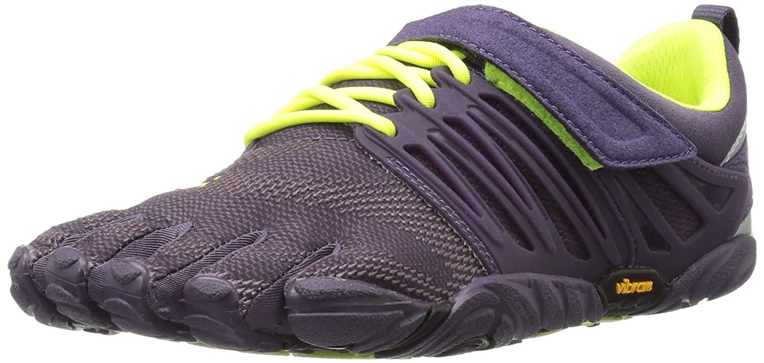 Vibram FiveFingers Damen V-Train Fitnessschuhe Mehrfarbig (Nightshade/Safety Yellow 17w6606)