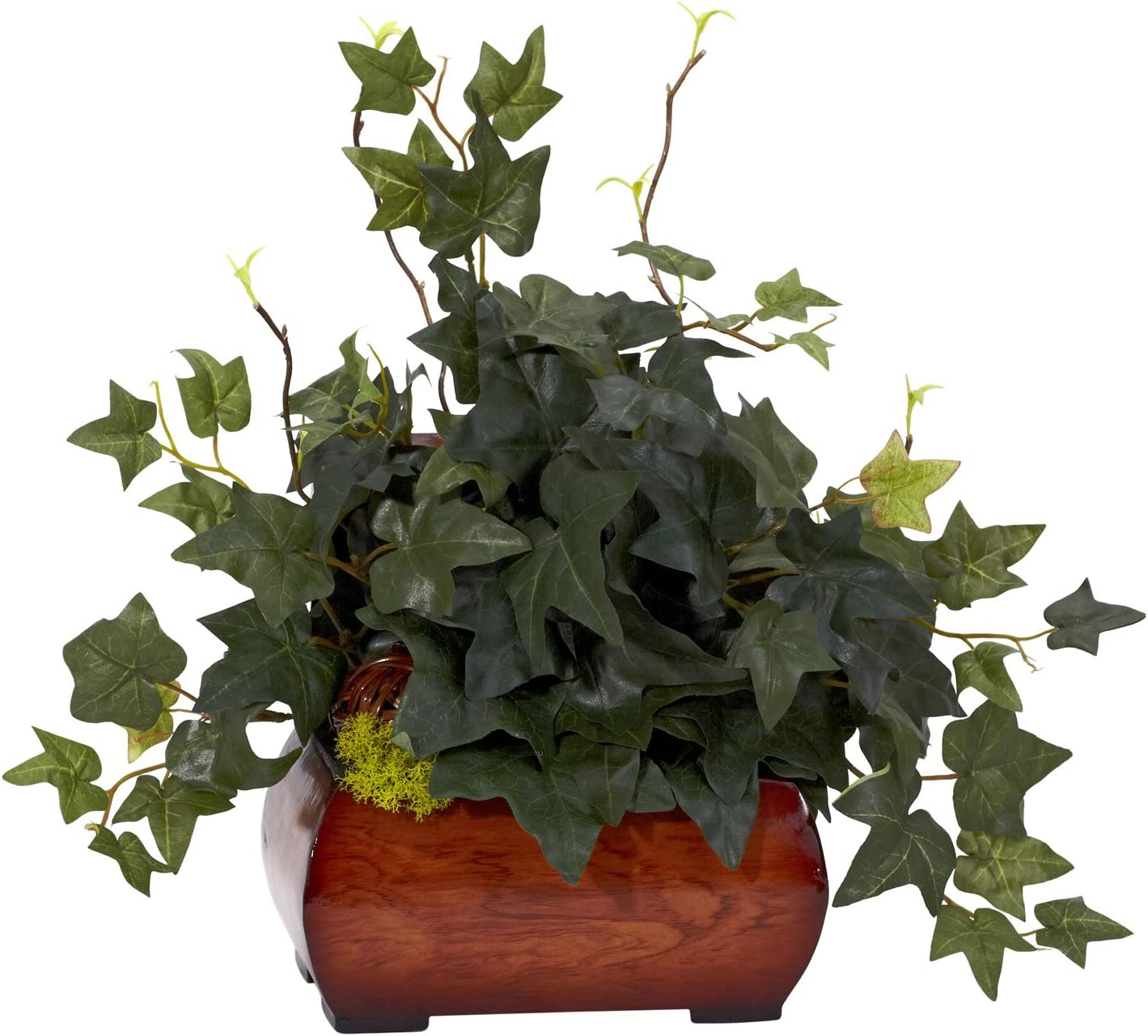 Nearly Natural 6683 Puff Ivy with Chest Decorative Silk Plant, Green