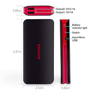 Amazon.com: Cargador portátil Kmashi Power Bank ...