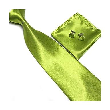 Pragmaticv Conjunto de corbata de color rosa para hombre Gemelos ...