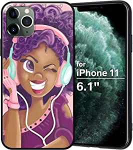 XIX iPhone 11 Case African American Afro Girls Women Slim Fit Shockproof Bumper Cell Phone Accessories Thin Soft Black TPU Protective Apple iPhone 11 Cases (16)