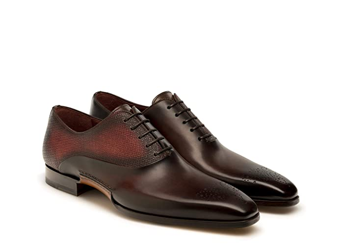 Amazon.com: Magnanni Jackson Midbrown and Red Mens Lace-up ...