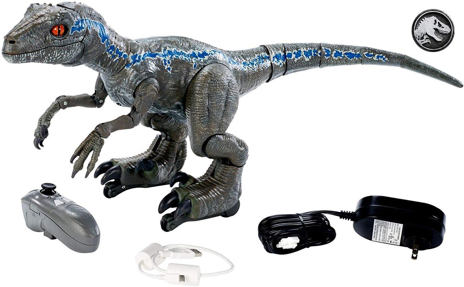 Jurassic World Figura Alpha entrenando al dinosaurio de juguete ...
