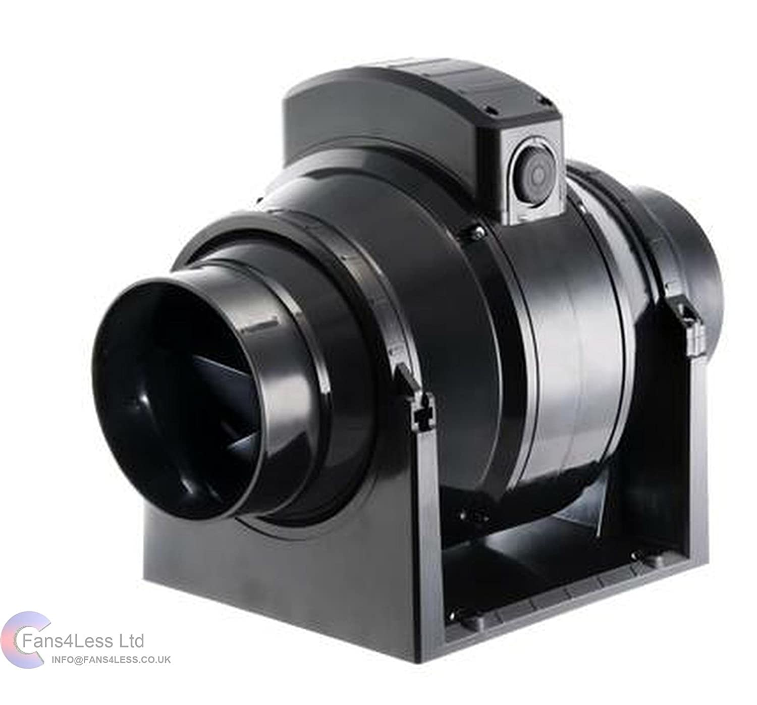 Rdl bathroom extractor fan - Manrose Mf100t Mixed Flow In Line Extractor Fan With Timer For Use With 100mm 4 Inch Ducting