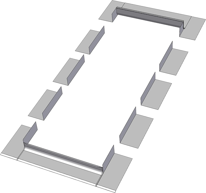 24-Inch x 38-Inch FAKRO FWU-L  69157 Egress Roof Window Left Opening