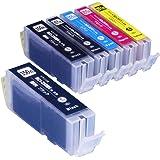 インクのチップスオリジナル製品 キヤノン用 互換インク BCI-351XL+350XL/5MP+BCI-350XLPGBK 5色+顔料ブラック1個セット フラストレーションフリーパッケージ