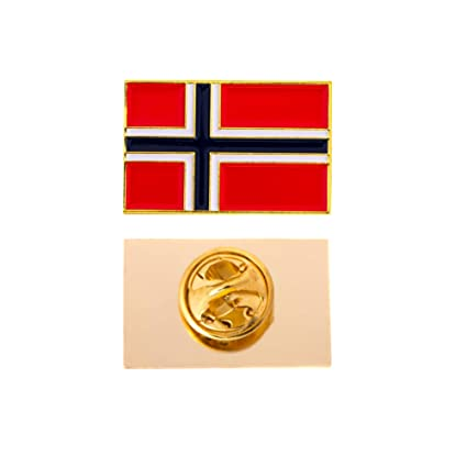 Country of Poland Waving Flag Lapel Pin Made of Metal Souvenir