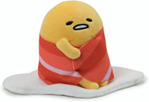 GUND Sanrio Gudetama The Lazy Egg with Bacon Blanket Stuffed Animal Plush, 4.5
