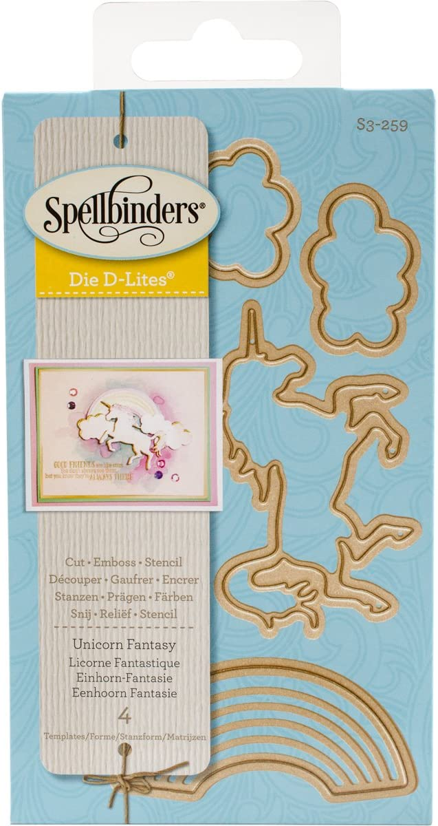Spellbinders Unicorn Fantasy Etched/Wafer Thin Dies