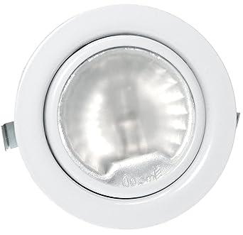 1 X Pack 12 V Spot Encastrable Pour Meuble Luna Avec 20 W Ampoule Halogène Intensité Variable Amp Prise Et Câble Couleur Blanc