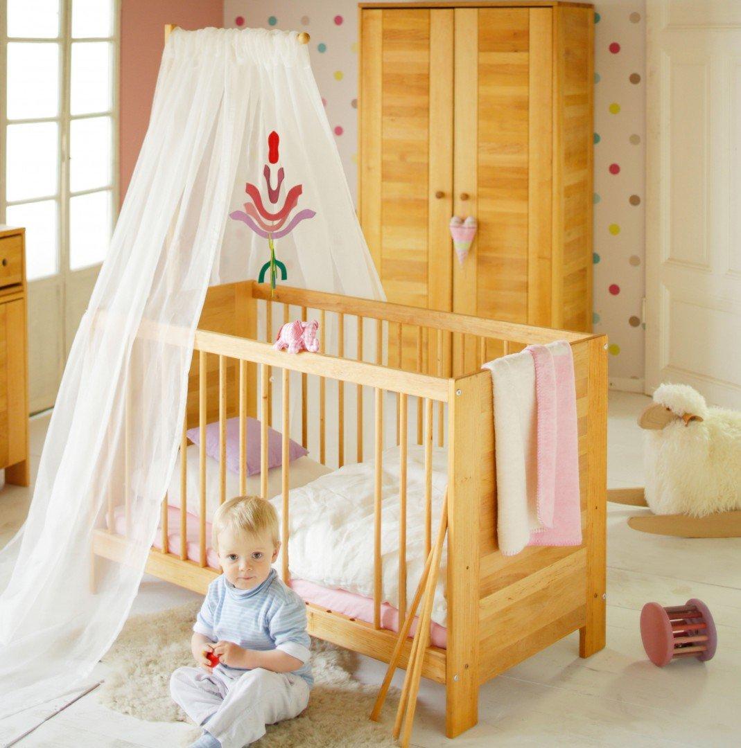 BioKinder 24032 Set Niklas Babybett 60x120 cm mit Aufhängung Erle