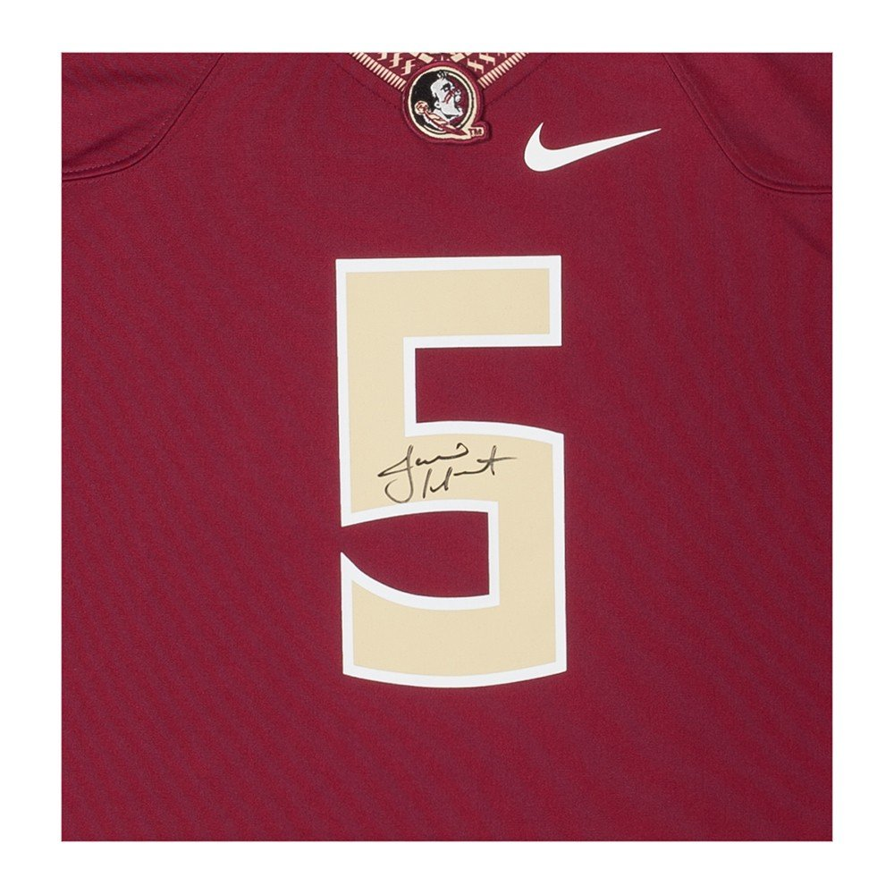 a2885e4d08bd5 Amazon.com  JAMEIS WINSTON Signed FSU Garnet Nike Replica Jersey UDA.   Sports Collectibles