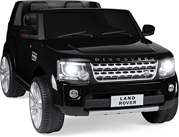 Best Choice Products 12V 3.7 MPH 2-Seater Licensed Land Rover Ride On Car Toy w/ Parent Remote Control, MP3 Player - Black