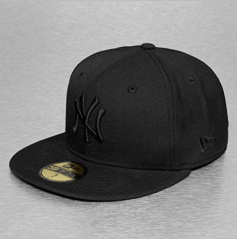 New Era Mujeres Gorra plana Black On Black NY Yankees