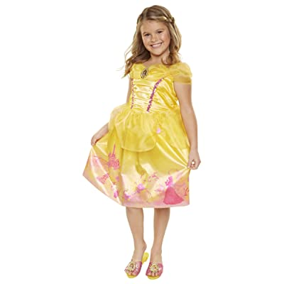 Disney Princess 4314 Belle Explore Your World Dress, Size: 4-6x, Yellow: Toys & Games